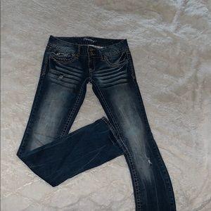 Denim - Skinny boot-cut jeans